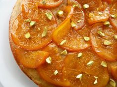 :pastry studio: Olive Oil Cake with Candied Orange