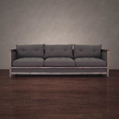 Creston 94-inch Smoke Linen Sofa | Overstock™ Shopping - Great Deals on 555 Sofas & Loveseats