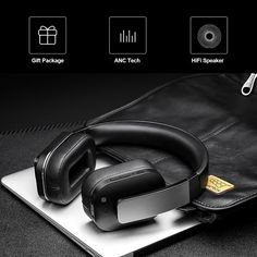 Picun Impact F9 ANC Wireless BT Active Noise Cancelling Headset Sales Online black - Tomtop Noise Cancelling Headset, Tech Accessories, Smartphone, Black, Black People