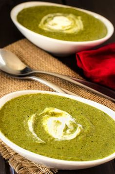 Soup lovers here's a recipe for you! Broccoli Spinach Quinoa Soup. Delicious!