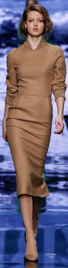 camel suit @roressclothes closet ideas women fashion outfit clothing style Max Mara Fall 2015 RTW: