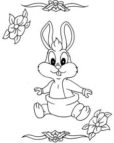 Cute Baby Bugs Bunny Coloring Pages - Looney Tunes cartoon coloring pages
