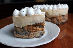 Mákosguba torta madártej krémmel Guam, No Bake Cake, Ale, Sweets, Baking, Food, Poppy, Sweet Pastries, Bread Making