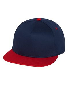 0058585c3a88a Yupoong - Five-Panel Flat Bill Cap - 6007