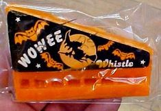 Oh wow, i do remember this! it was great, Every Halloween you would see theses in all the stores, Its a waxy Halloween harmonica. Who woulda thought, lol. good fun