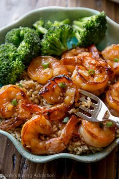 Ingredients: 1/3 cup honey 1/4 cup soy sauce (I use reduced sodium) 1 Tablespoon minced garlic optional: 1 teaspoon minced fresh ginger 1 lb medium uncooked shrimp, peeled & deveined1 2 teaspoons oliv