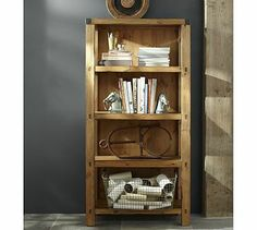 I think people dont realize how easy it is to make simple furniture..I wanna make this bookshelf! Hendrix Bookcase #potterybarn