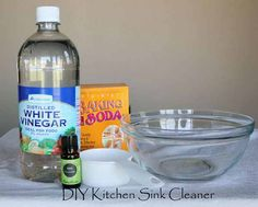 DIY Kitchen Sink Cleanerit worked great after I was done I went over sink and sink loners with veg oil shined good and keeps food from sticking Stainless Steel Sink Cleaner, Kitchen Sink Cleaner, Kitchen Sink Diy, Homemade Cleaning Products, House Cleaning Tips, Cleaning Hacks, Diy Cleaners, Cleaners Homemade, Lime Essential Oil