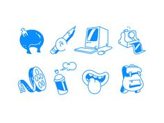 Illustrative Icons for Web by Burnt Toast Creative