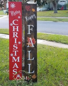 Items similar to Fall/Christmas Front Porch Sign - Reversible Wood Sign on Etsy Fall Wood Signs, Christmas Signs Wood, Diy Wood Signs, Holiday Signs, Christmas Porch, Christmas Crafts, Christmas Decorations, Pallet Signs, Primitive Christmas