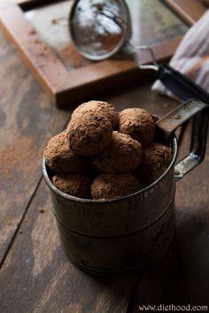 Chocolate Truffles @Kat Ellis Petrovska   Diethood