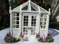 Dollhouses by Robin Carey: The Greenhouse - Added Later to the Van Buren