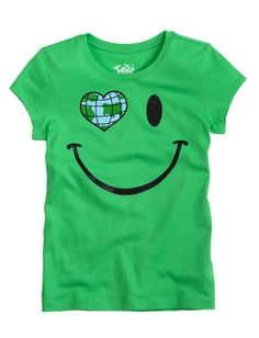 smile globe graphic tee from Justice #kids
