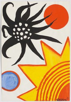 "Alexander Calder Untitled, 1971 - another little Calder ""sketch"" - don't you… Modern Art, Contemporary Art, Avant Garde Artists, Art Students League, Love Art, Alexander Calder Sculptures, Art Lessons, Art History, Jean Arp"