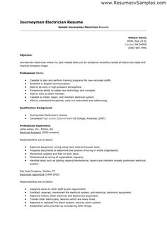 electrician resume sample journeyman cover letter underground mining best free home design idea inspiration - Sample Resume Electrician