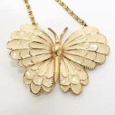 A personal favorite from my Etsy shop https://www.etsy.com/listing/229132422/signed-art-vintage-butterfly-bright-gold