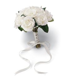 "Wedding Bouquet 8.5"" Diameter-French Rose Natural Color"