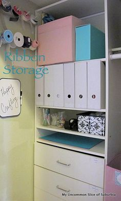Turning a small coat closet into a organized craft closet