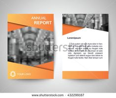 orange annual report abstract flyer layout template, brochure background, leaflet with cover, vector design in a4 size for business