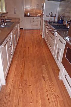 Remilled Heart Pine in Kitchen