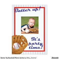 Batter Up Baseball Photo Invite