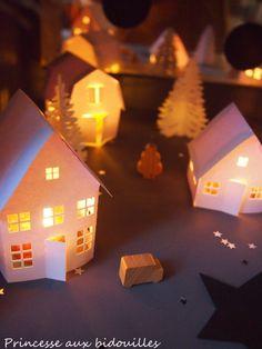 village de noel an papier - Princesse aux bidouilles