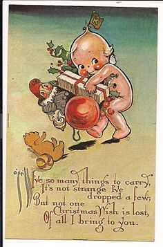 "Rosie O'Neill (1874-1944) was born in Pennsylvania  and is most famous for her ""Kewpie"" cards. Her first works were published by the Gibson Art Company in 1915"