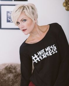 Hot Mess Express- <br>Graphic Raglan T-Shirt: