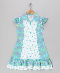 Take a look at this Blue Floral Mod Sundress - Infant, Toddler & Girls by Vintage Circus on #zulily today!