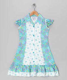 346a298328 Vintage Circus Blue Floral Mod Sundress - Infant
