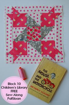 Pat Sloan Children library sew along block 10