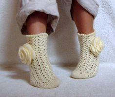 HAND KNITTED SOCKS/Women Socks/Lace Socks/Cold by DaceZaharova, £21.99