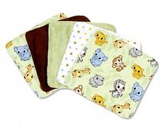 Chibi Zoo Baby Wash Cloth Set