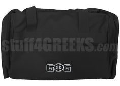 GROOVE PHI GROOVE DUFFEL BAG WITH LETTERS, BLACK Item Id: PRE-DUFL-GROOVE-BASIC-LETTERS-BLK Price: $39.00