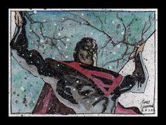 Superman sketch card - by Gary Shipman