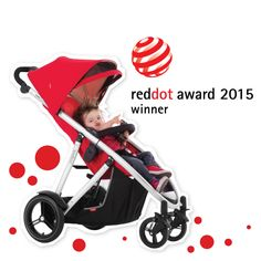 phil&teds verve urban luxury inline stroller red dot winner 2015 side view