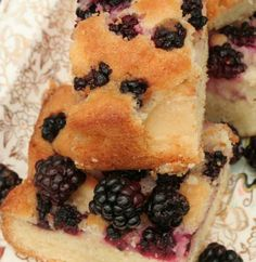 Black & Blue Berry Cake. except i used black and raspberries.