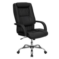 Flash Furniture BT9130BKGG High Back Black Leather Executive Office Chair *** Click image for more details.Note:It is affiliate link to Amazon.
