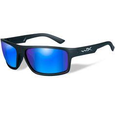 24367c7963468 Wiley X Peak Polarized Sunglasses - Blue Mirror Lens - Matte Black Frame   ACPEA09