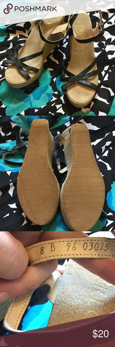 🎉Précis Wedge Sandals.🎉🌟❤️ Précis wedge sandals. Adorable and very comfortable. Only wore once. No holes or stains. Smoke free home! Precis Shoes Wedges