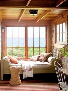 georgianadesign:    Seaside sleeping porch photographed by Annie...