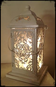 Lantern with the electric lights.
