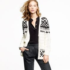 I saw someone wearing a Fair Isle cardigan today and decided I must have one. . . This one from JCrew may work.