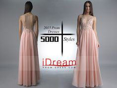 #2015 #bateau #a #line #chiffon #with #slit #and #beading #floor #length #prom #dresses