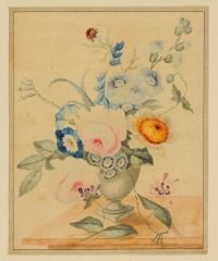 Untitled (Bouquet in Vase on Table) JOHN HANCOCK (ENGLISH, b. 1757–UNKNOWN) C. 1825