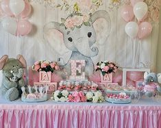Elephant Baby Shower Cake, Baby Girl Elephant, Elephant Theme, Elephant Elephant, Elephant Party, Elephant Nursery, Baby Girl Shower Themes, Girl Baby Shower Decorations, Baby Shower Girl Centerpieces