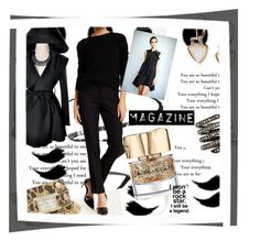 """Magazine"" by missvivere ❤ liked on Polyvore featuring Maybelline, Amanda + Chelsea, XOXO, Smith & Cult, Kensie and Lynn Ban"