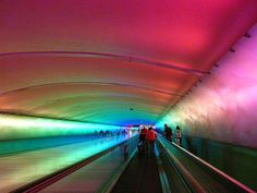Detroit Airport, I go through this tunnel all the time when I'm traveling