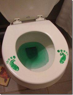 St. Patrick's Day holiday, prank, toilet, saint patricks day, stpatricksday, st patricks day, st patti, kids, leprechaun