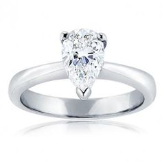 Pear Shaped Solitare Ring